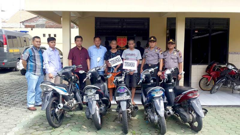 pencurian-sepeda-motor-toni-dan-dheni-dikeler-polisi CCTV Cirebon -